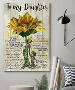 Be A Sunflower Matte Canvas Mom Gift For Daughter