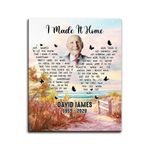 I Made It Home Custom Name And Photo Gift For Dad Matte Canvas