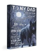 Custom Name Son Gift For Dad Matte Canvas Black Wolf Always Be My Loving Father