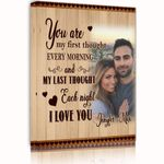 You Are My First Thought Custom Name And Photo Matte Canvas