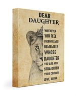 Matte Canvas Mom Gift For Daughter Straighten Your Crown Lion