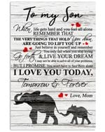 Elephant Shadow Live Your Dream Matte Canvas Mom Gift For Son