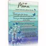 Thank For Being Patient With Me Matte Canvas Daughter Gift For Mama Custom Name