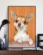 Beautiful Chihuahua Funny Portrait Board Matte Canvas Gift For Dog Lovers