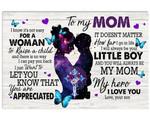 Son Gift For Mom You Are Appreciated Matte Canvas