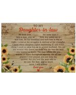 I Will Forever Love You Sunflower Matte Canvas Mom Gift For Daughter
