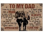 Son Gift For Tractor Dad Matte Canvas You Are Appreciated