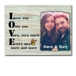 Love You Very Much Custom Name And Photo Matte Canvas