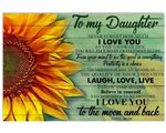 Laugh Love Live Sunflower Matte Canvas Mom Gift For Daughter