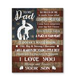 Son Gift For Veteran Dad Thank You For The Love Matte Canvas