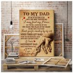 Daughter Gift For Dad Thank You For Standing By My Side Matte Canvas