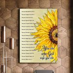 God Say You Are Giant Sunflower Matte Canvas Gift