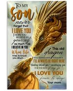 Matte Canvas Mom Gift For Son This Dragon Always Have Your Back
