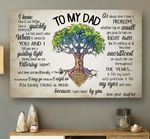 Daughter Gift For Dad Matte Canvas Tree Of Life When I Have A Problem