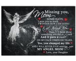 Missing You Mom Fairy Matte Canvas Gift