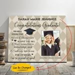 I Am So Proud Of You Custom Name And Number Graduation Gift Matte Canvas