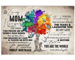 Colorful Tree Gift For Mom You Are The World Matte Canvas