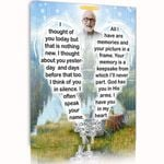 Custom Name And Photo Matte Canvas Gift For Grandpa I Thought Of You
