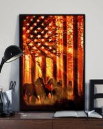 Horse In Forest Patriot Usa Matte Canvas Gift