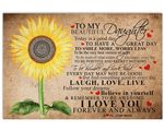 Sunflower Laugh Love Live Matte Canvas Mom Gift For Daughter