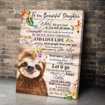 Sloth Gift For Daughter Let It Go Matte Canvas