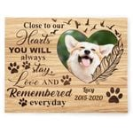 Close To Your Hearts Gift For Dog Lovers Custom Name And Number And Photo Matte Canvas