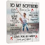 I Love You So Much Gift For Boyfriend Custom Photo And Name Matte Canvas