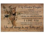 How Much You Mean To Me Horse Gift For Daughter Matte Canvas