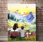 Angel Horse And Dog You Are Always In My Heart Custom Name Matte Canvas