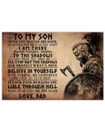 Viking Warrior Believe In Yourself Matte Canvas Dad Gift For Son