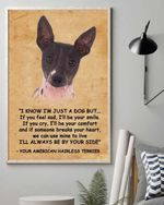 American Hairless Terrier Be By Your Side Matte Canvas Gift For Dog Lovers