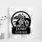 Motorcycle Garage Custom Name Matte Canvas