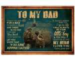 Go Fishing Always Be My Hero Son Gift For Dad Matte Canvas