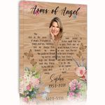 Arms Of Angel Gift For Grandma Custom Name And Number And Photo Matte Canvas
