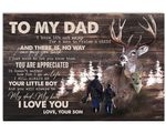 You Are Appreciated Deer Go Hunting Son Gift For Dad Matte Canvas