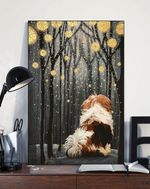 Shih Tzu Night Forest Gift For Dog Lovers Matte Canvas