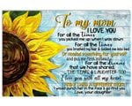 If I Had A Different Mom Sunflower Matte Canvas Daughter Gift For Mom