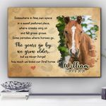 Loved First Horse Gift For Horse Lovers Custom Name And Photo And Number Matte Canvas