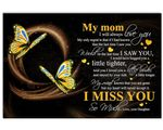 Matte Canvas Gift For Mom Gold Butterflies Always Love You
