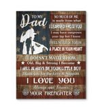 Firefighter Gift For Dad I Love You Matte Canvas