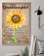The Happiness In My Life Sunflower Grandma Matte Canvas Gift For Granddaughter
