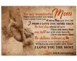 Love You More Than The Distance Between Us Matte Canvas Daughter Gift For Mom