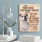 I Am Your Bulldog Gift For Dog Lovers Custom Name And Photo Matte Canvas