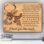 Deer I Love You The Most Matte Canvas Gift