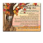 I Miss You Autumn Leaves Custom Name And Photo Matte Canvas Gift