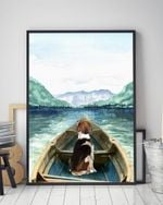 American Foxhound On The Boat Matte Canvas Gift For Dog Lovers