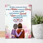 Custom Name Matte Canvas Daughter Gift For Mom Strong To Raise A Child
