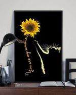 Cat And Sunflower You Are My Sunshine Matte Canvas Gift