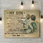 Dad Gift For Son I Will Always Carry You In My Heart Matte Canvas