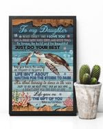 Turtle The Gift Of You Matte Canvas Mom Gift For Daughter
